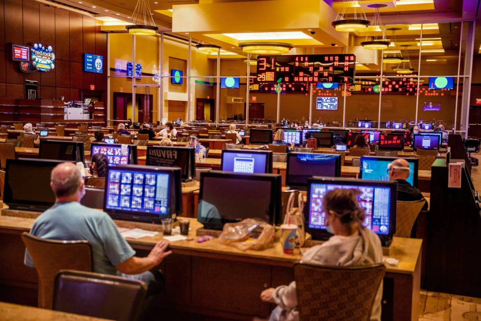 The Red Rock Bingo room offers both electronic cards that track your numbers and paper cards yo ...