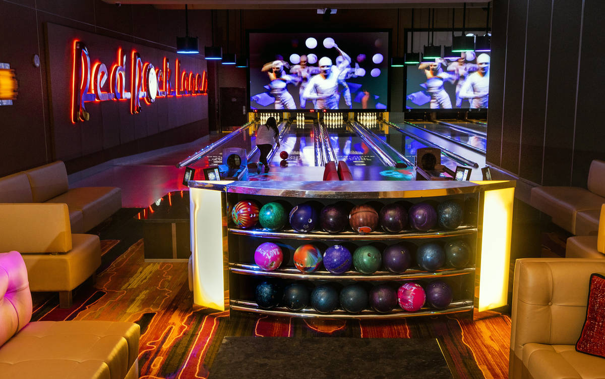 Red Rock Lanes has private VIP luxury suites that provide 4, 8 or 12 lanes of bowling, along wi ...
