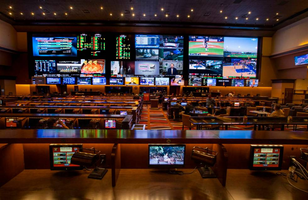 Plenty of seating is available in the Sports & Race Book at Red Rock Resort. (L.E. Baskow/Las V ...