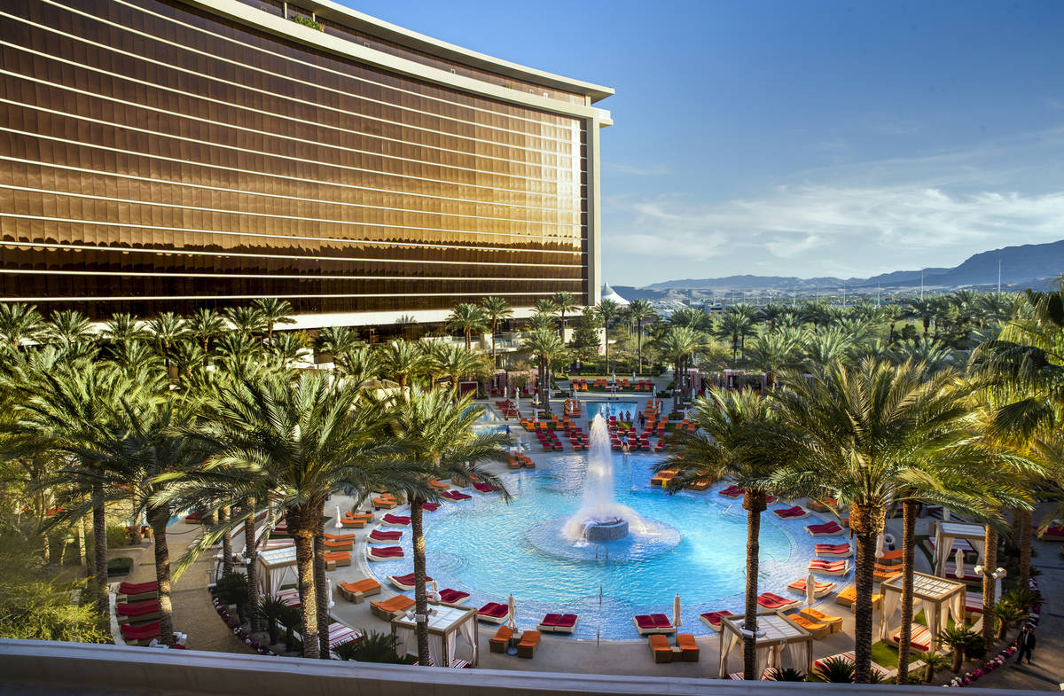 Take a dip in the pool at Red Rock Resort and then enjoy a Mega Dole Whip Sundae. (L.E. Baskow/ ...