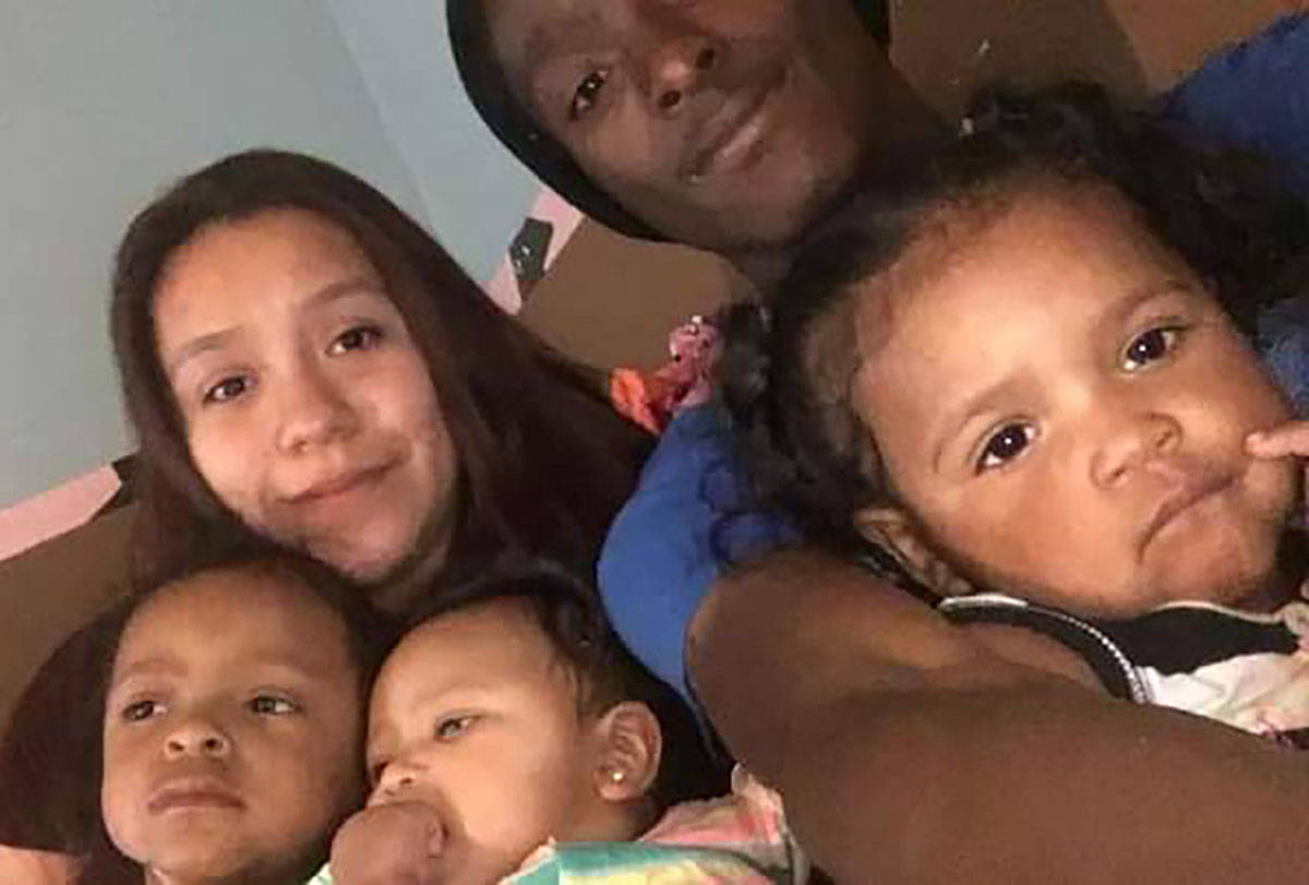 Kashif Brown, top right, is pictured with his wife, Jenifer, and their three children. (Courtes ...