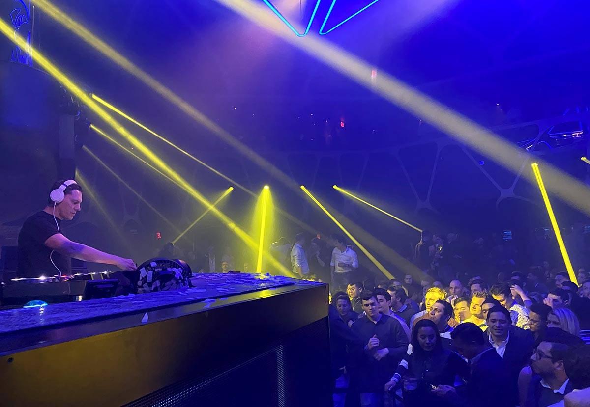 Tiesto performs during the DreamlandXR Closing Night Party at Hakkasan Nightclub at the MGM Gra ...