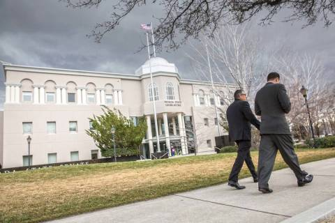 Nevada Legislative Building in Carson City. (Benjamin Hager/Las Vegas Review-Journal) @benjamin ...