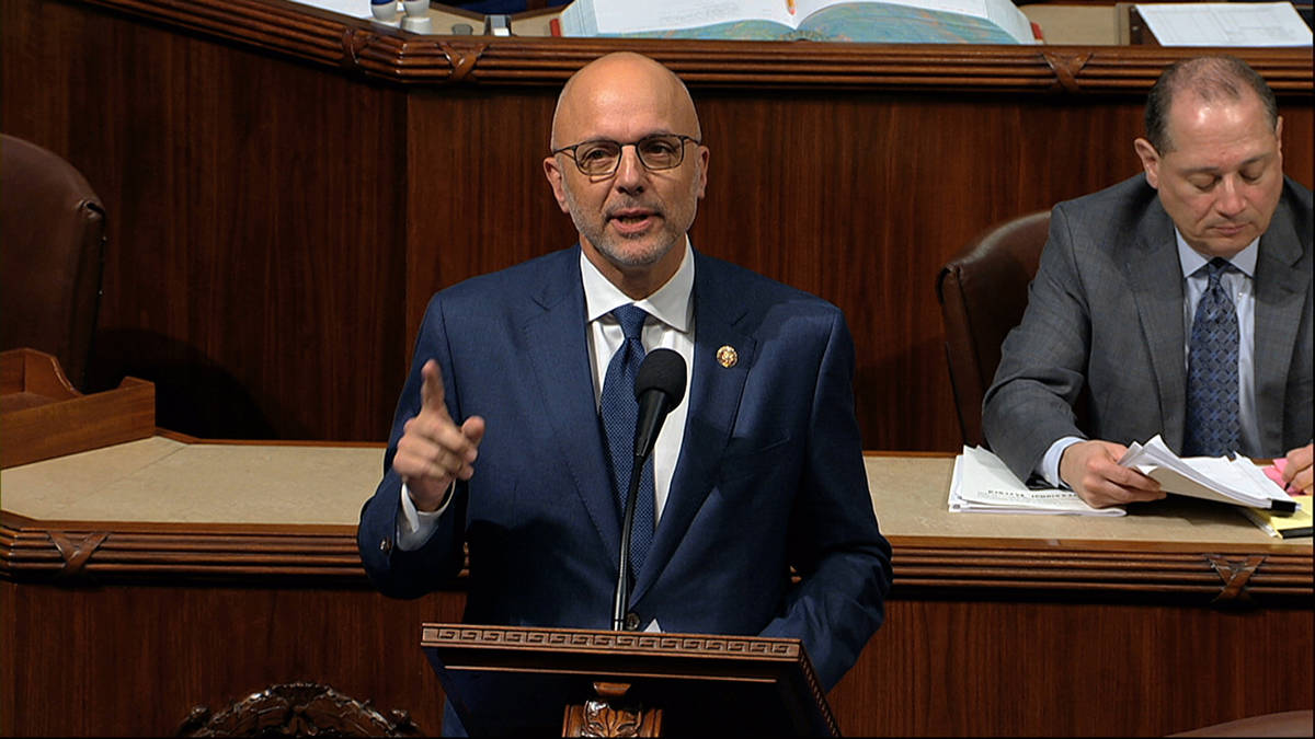 Rep. Ted Deutch, D-Fla., speaks as the House of Representatives debates the articles of impeach ...