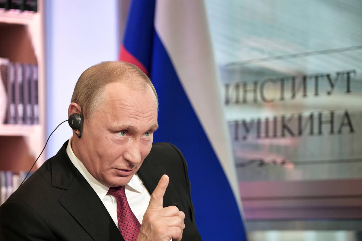 Russian President Vladimir Putin. (Alexei Nikolsky/Sputnik, Kremlin Pool Photo via AP)