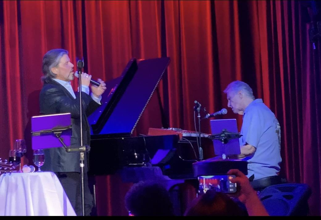 Bucky Heard and Bill Medley are shown at Medley's unbilled appearance at the Italian American C ...