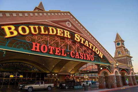 Boulder Station casino on Thursday, Sept. 3, 2020, in Las Vegas. (Benjamin Hager/Las Vegas Revi ...