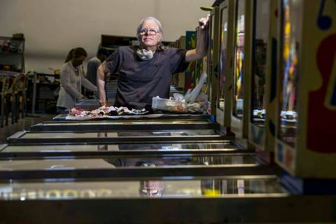 Pinball Hall of Fame owner Tim Arnold still repairs his machines at the new location across fro ...