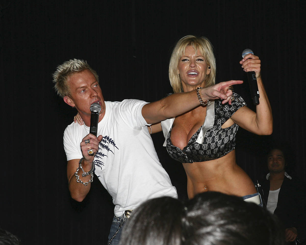 Chris Phillips and Marley Taylor of Zowie Bowie perform at Red Rock Resort's Rocks Lounge on Fe ...