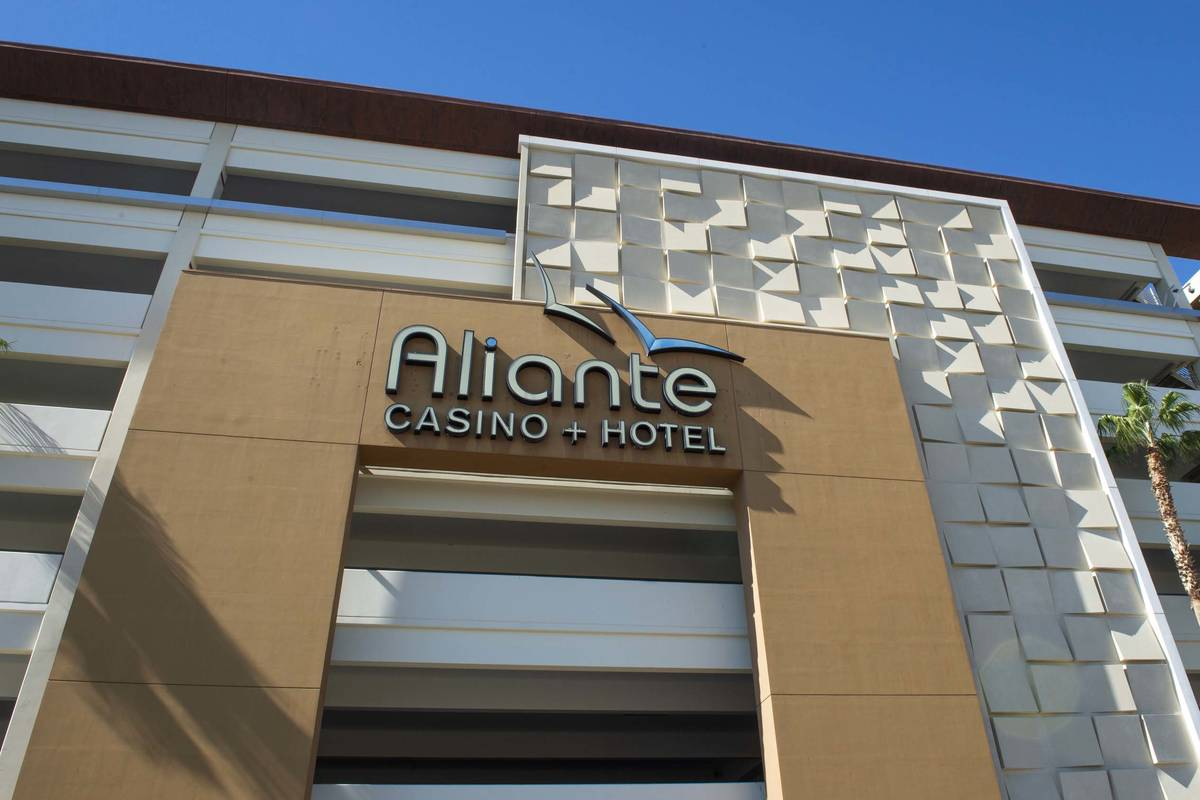 Outside view of the Aliante Casino and Hotel in North Las Vegas, Monday, Oct. 22, 2018. (Las Ve ...