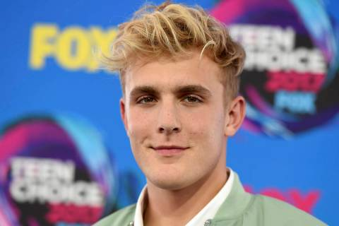 Internet personality Jake Paul arrives at the Teen Choice Awards in Los Angeles on Aug. 13, 201 ...