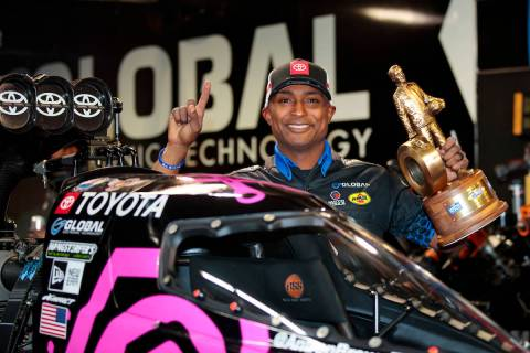 Antron Brown won the 2020 fall race at Las Vegas Motor Speedway and has recaptured the momentum ...
