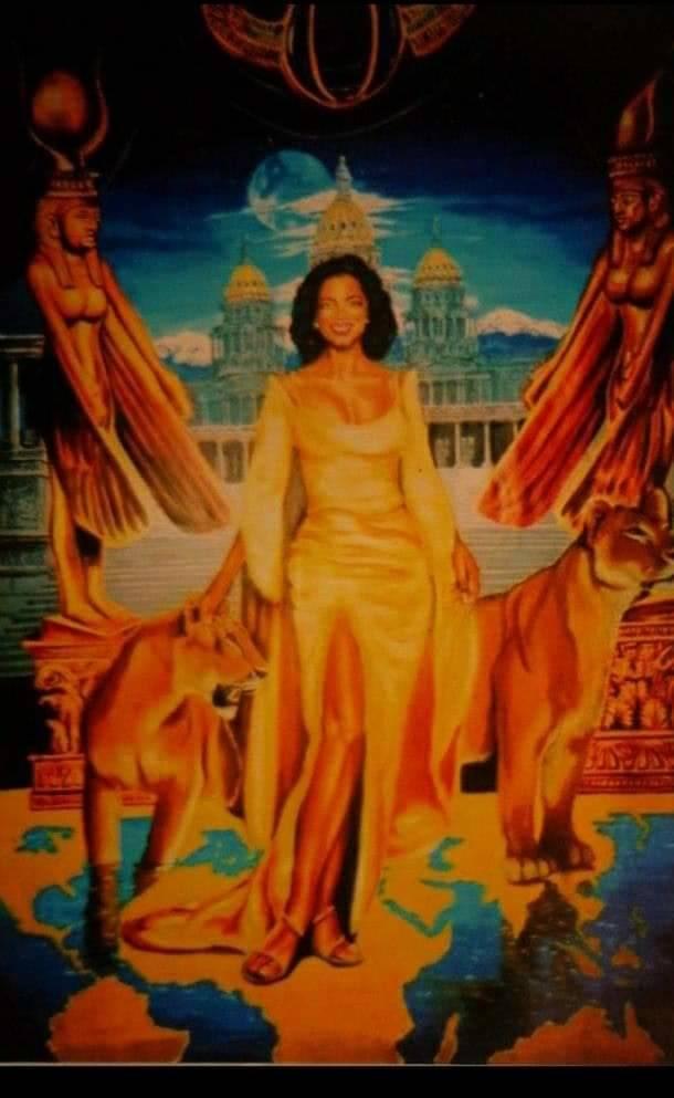 Fredrick Mason's painting of Oprah. (Courtesy of Kendra Mason)