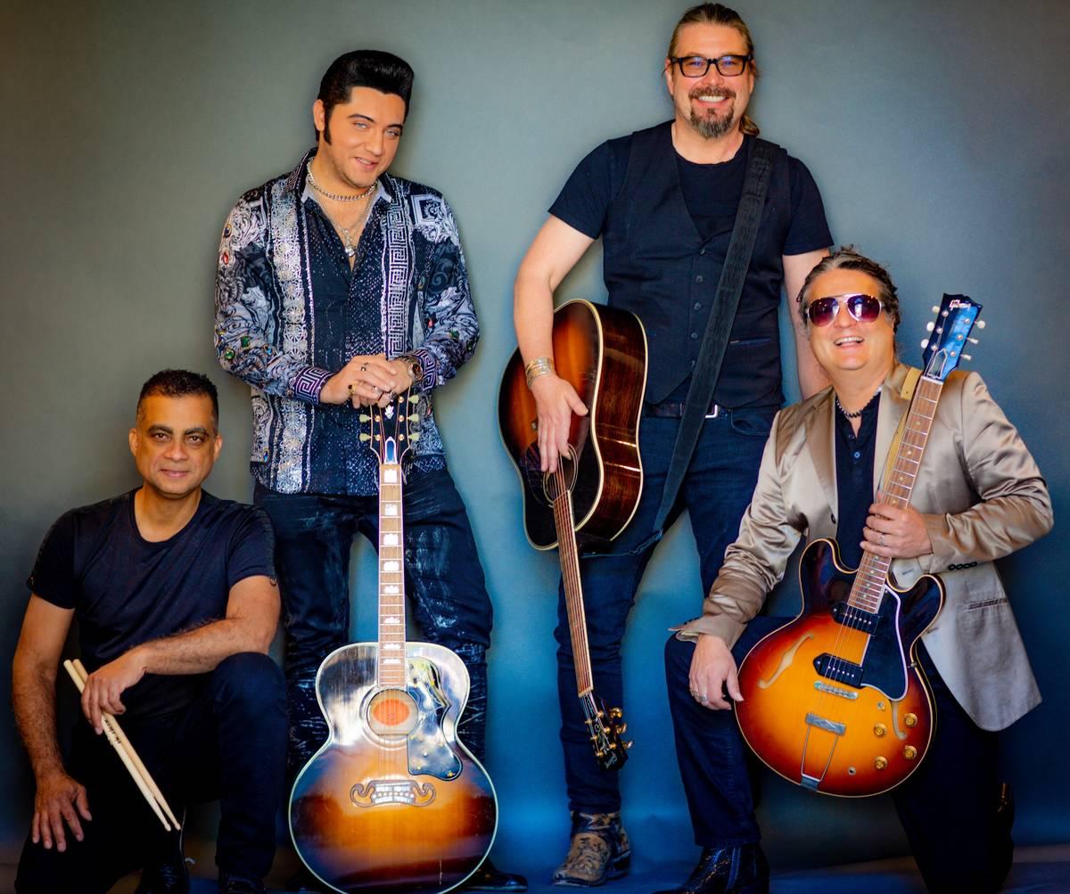 "Pepe Jimemez, Justin Shandor, Martin Zimmerman and Elvis Lederer of ""Elvis & Friends '68 Comeba ..."