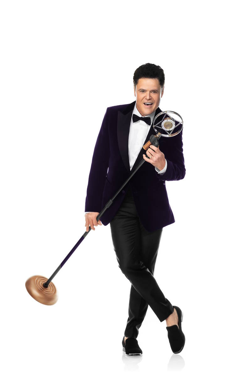 """Donny Osmond returns to the Strip in """"Donny!,"""" which opens Aug. 31 at Harrah's Showroom. (Lee C ..."""