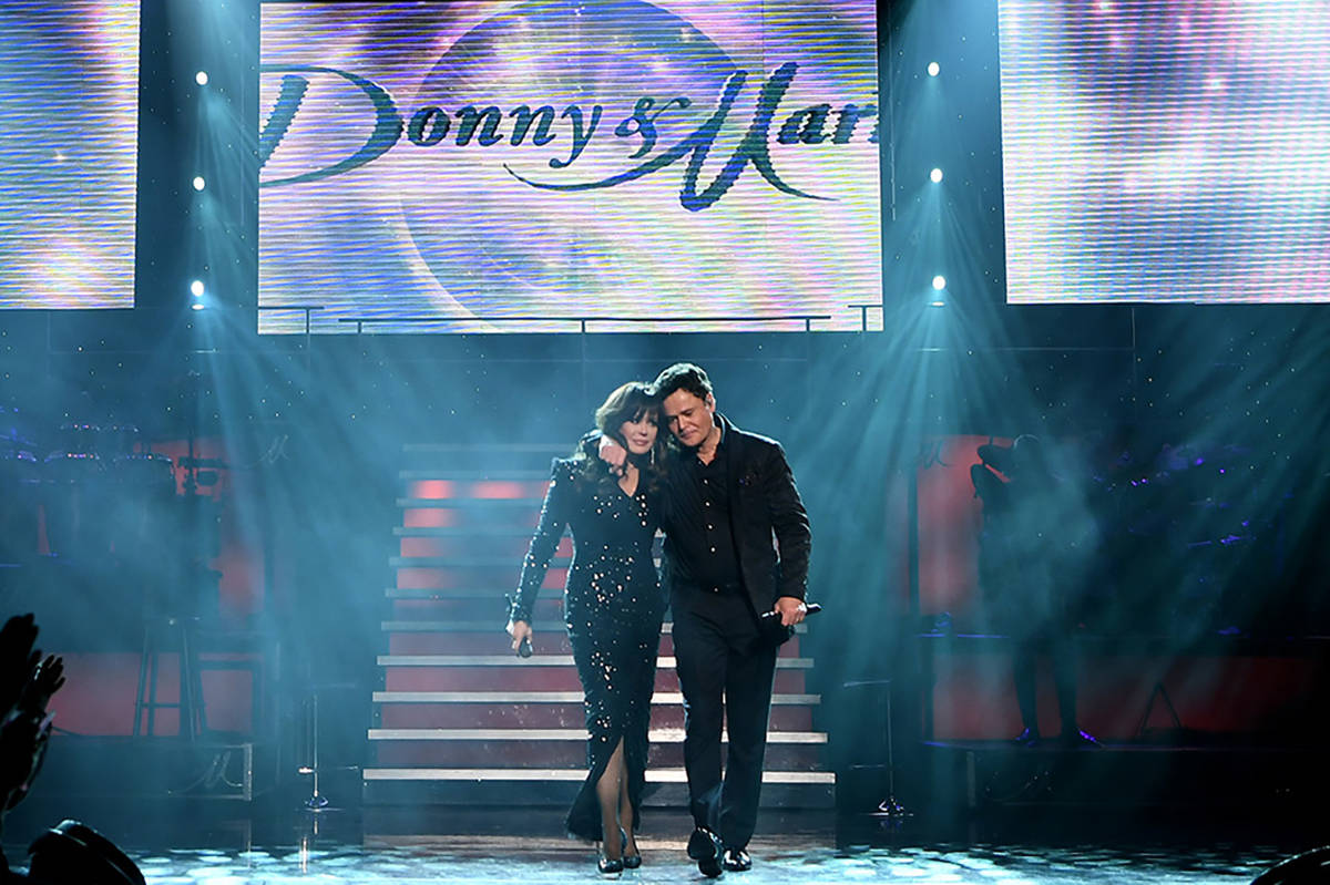 Donny & Marie Osmond are seen during their final performance at Flamingo Las Vegas on November ...