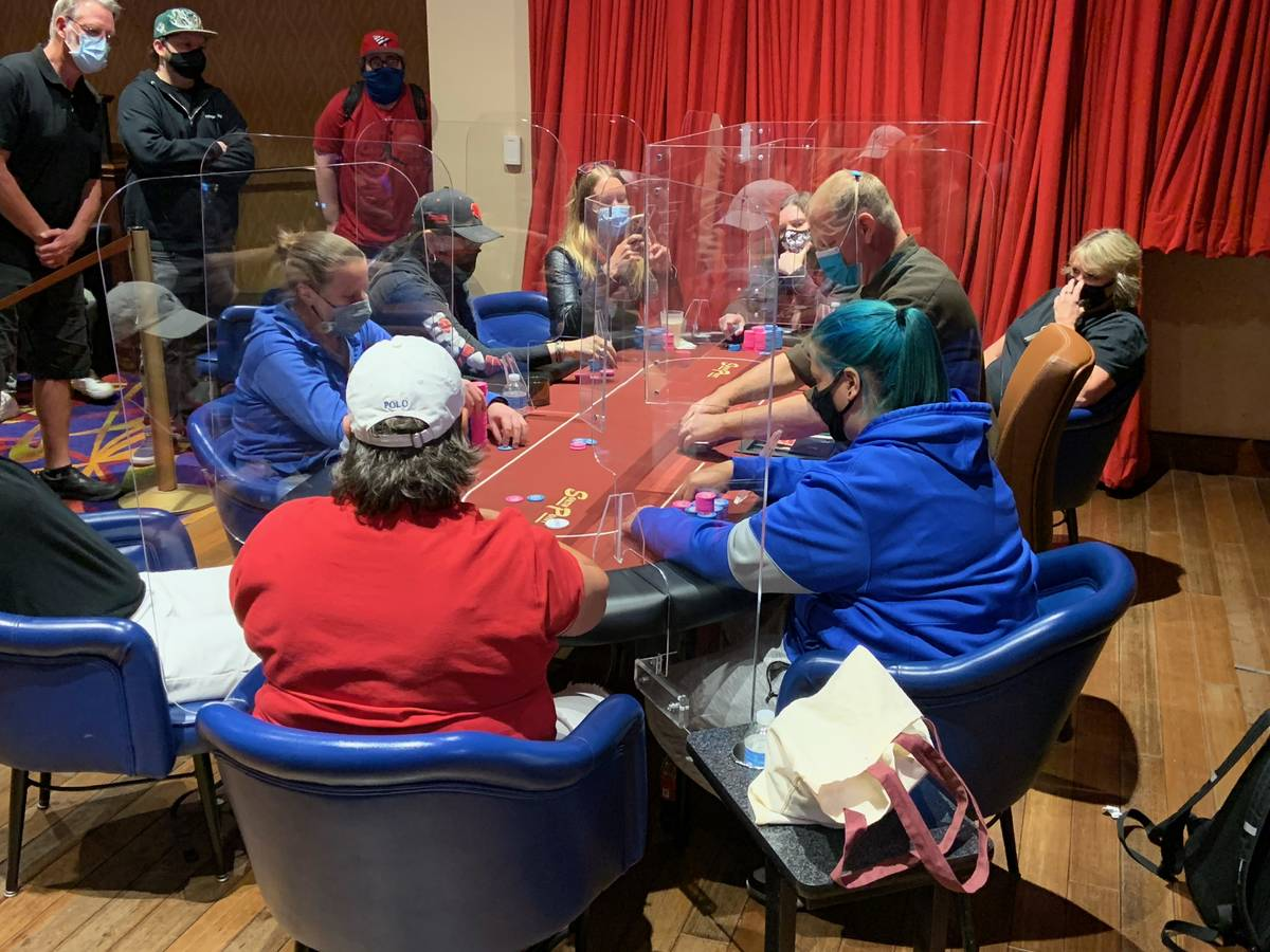 The final table of the Nevada State Ladies Poker Championship Main Event on Sunday, April 18, 2 ...