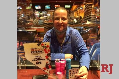 Mikella Pedretti of La Mesa, California, won the Nevada State Ladies Poker Championship Main Ev ...