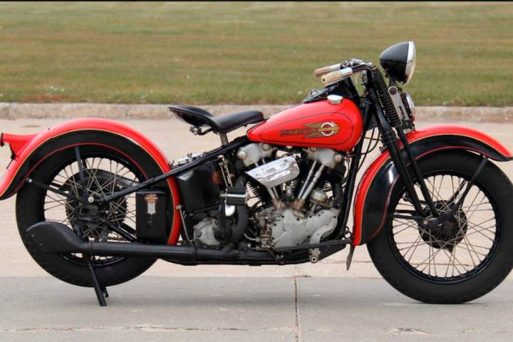 Mecum Auctions This 1936 Harley-Davidson EL was bought in 1994 from Dale Walksler of the Wheels ...