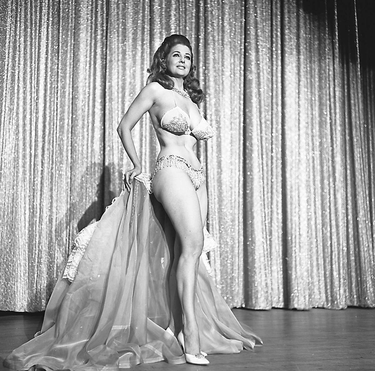 Tempest Storm performs at the Aladdin in November 1969. (Special to View)