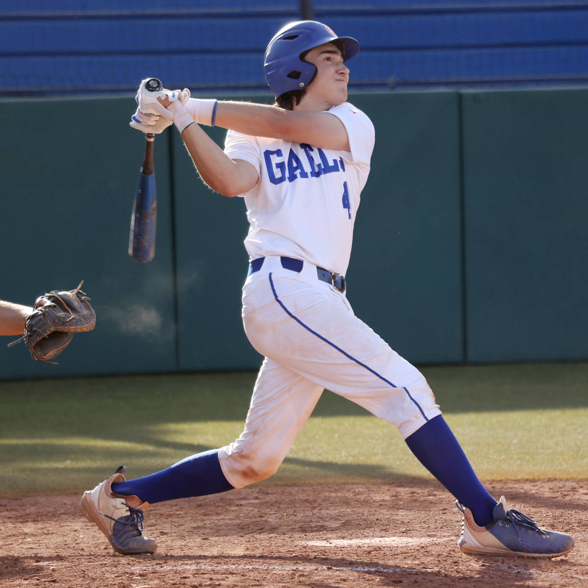 Bishop Gorman's Anthony Marnell (4) connects with the ball for a walk-off hit against Coronado ...