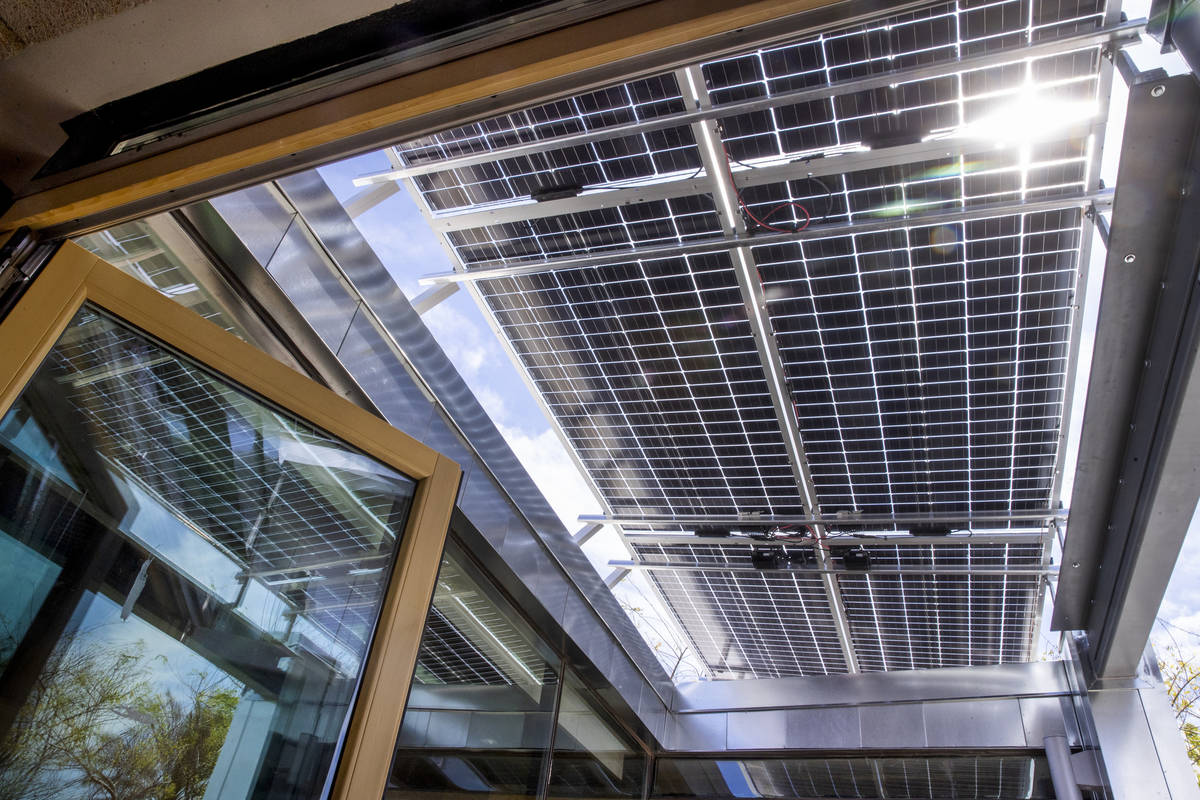 Full roof solar panels are one of the special features as a UNLV team readies to compete next w ...