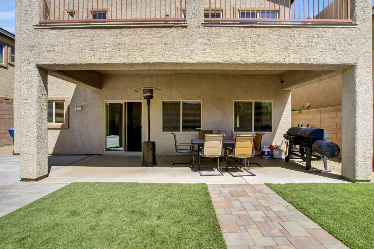The covered patio at 837 Motherwell Ave. in Henderson (Casie and Derek Jolley)