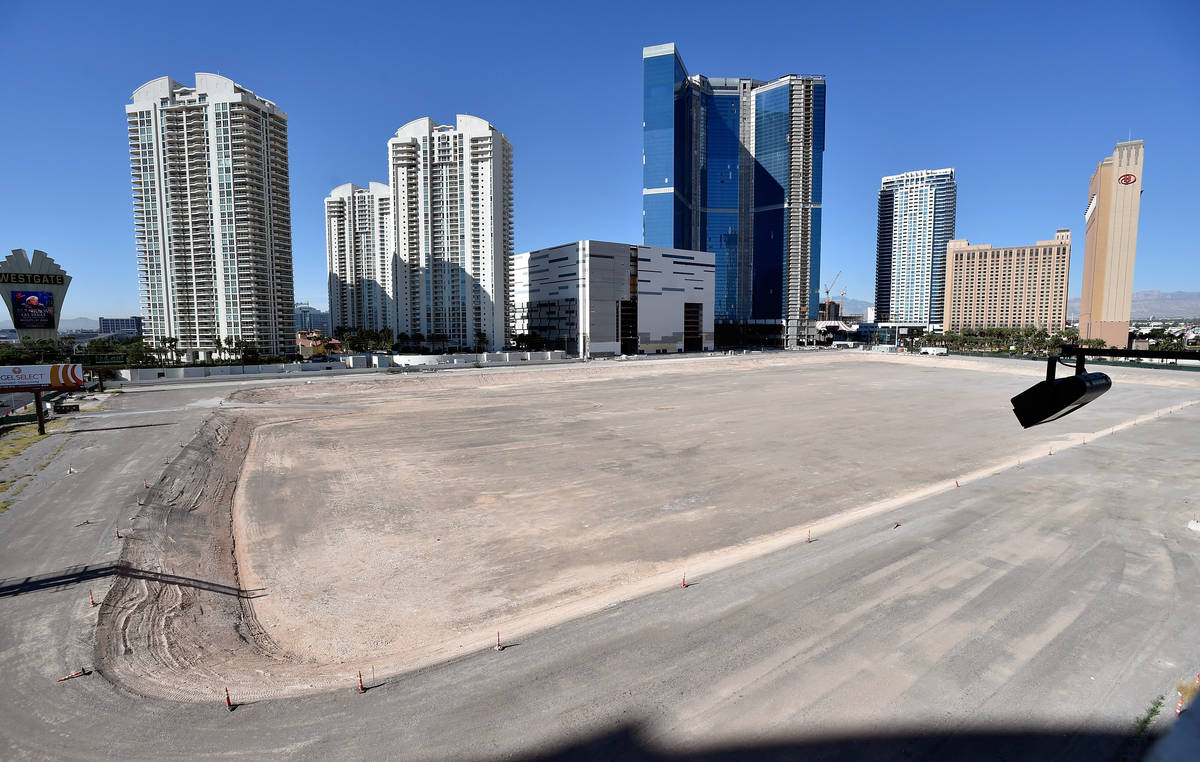 The construction site where former NBA player Jackie Robinson plans to build an arena, hotels a ...