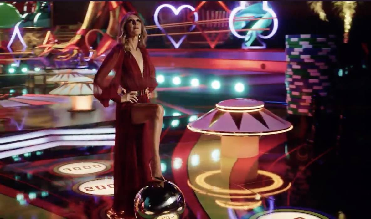 """A screen grab of Celine Dion is shown in Resorts Worlds Las Vegas' new commercial, """"Stay Fabulo ..."""