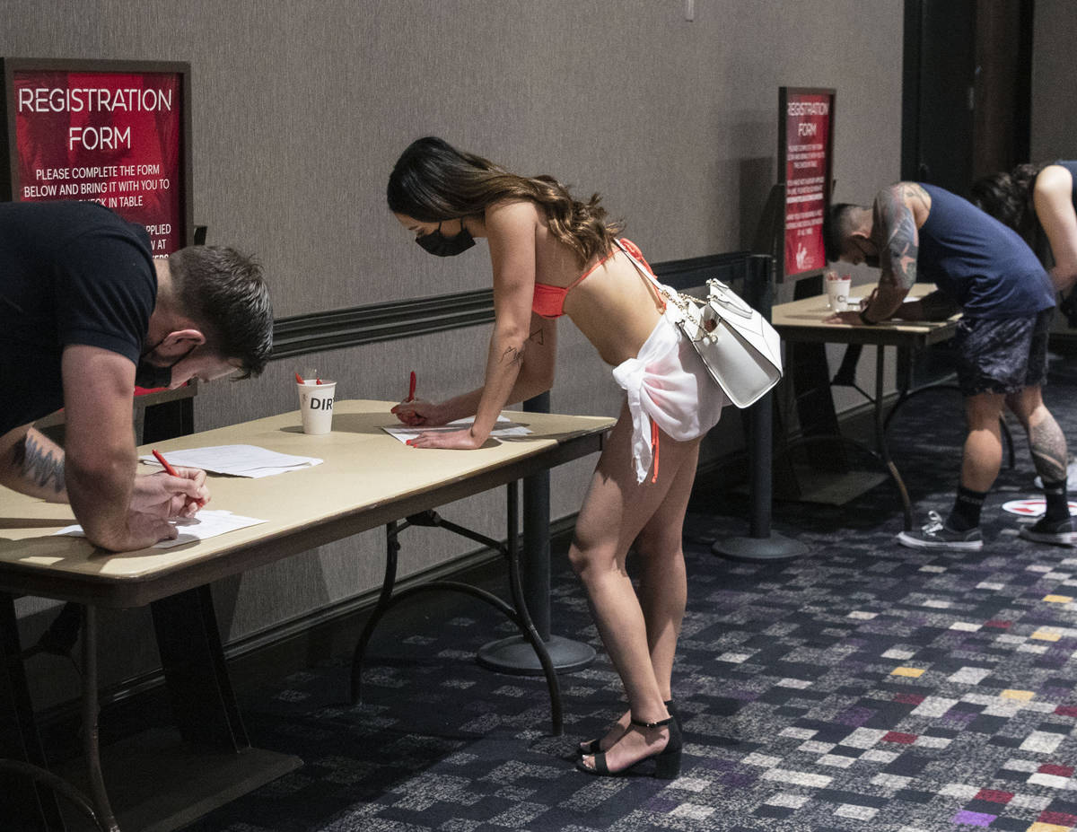 Job seekers, including Katelyn Laurente applies for cocktail waitress position as Virgin Hotels ...