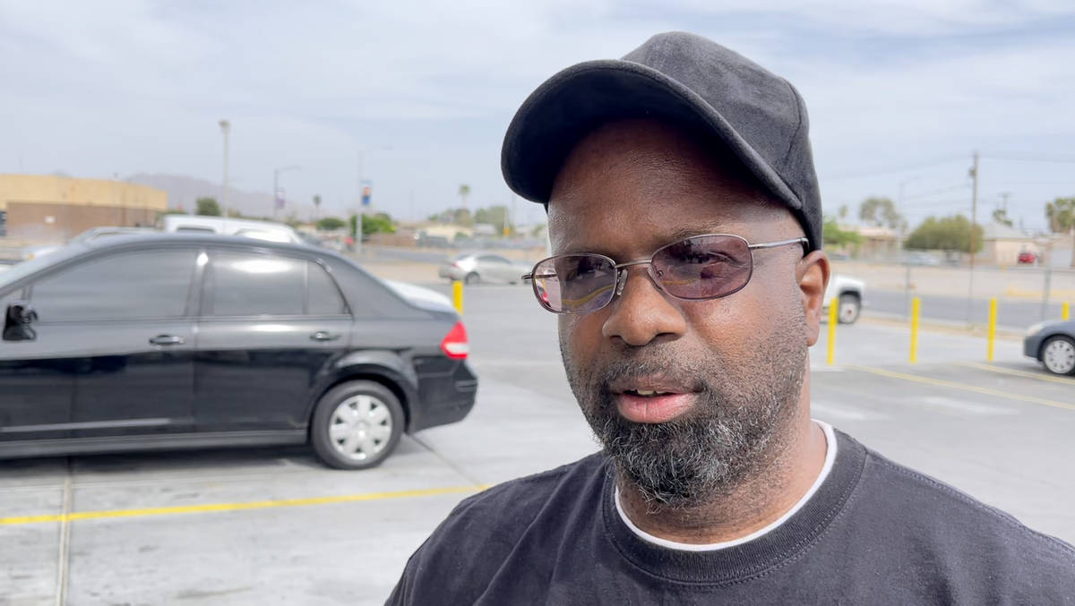 Laron Smith of Las Vegas reacts Tuesday, April 20, 2021, to the guilty verdicts in the trial of ...