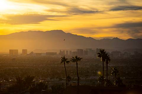 A view of the Las Vegas Strip from the Sunrise Manor area of east Las Vegas on Wednesday, Jan. ...