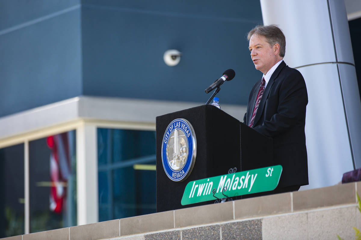 Chief Judge Bert Brown speaks during the opening ceremony for the $56 million Las Vegas municip ...
