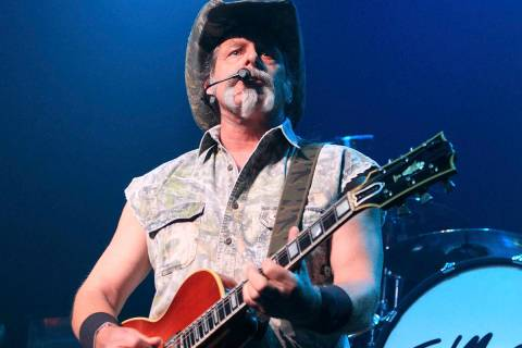 Ted Nugent performs at Rams Head Live in Baltimore on Aug. 16, 2013. Nugent revealed he was in ...