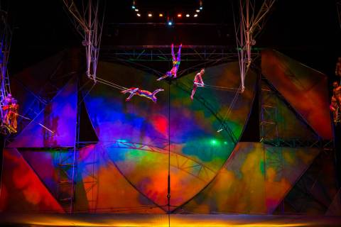 "A scene from the Cirque du Soleil show ""Mystere"" at Treasure Island. (Cirque du Soleil)"