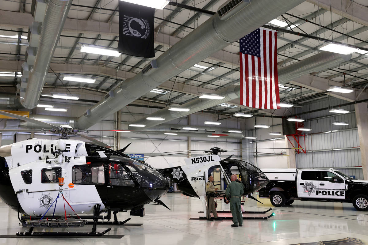 The Metropolitan Police Department Search and Rescue Air Support Unit air hanger at the North L ...