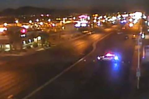 The east and westbound lanes of Flamingo Road were closed in both directions from Maryland Park ...