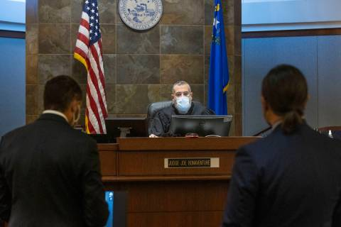 Prosecutor Christopher Hamner, left, and attorney Michael Sanft, representing Sierra Halseth, c ...