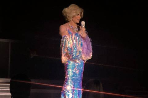 "Frank Marino is shown hosting ""Legends In Concert"" in his Joan Rivers role on Monday, Feb. 10, ..."