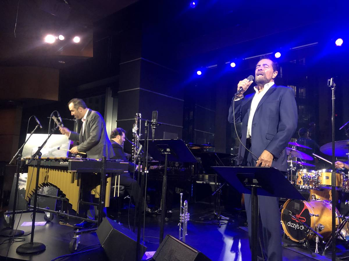 Christian Tamburr and Clint Holmes are shown at Dizzy's Club at Lincoln Center in New York on A ...