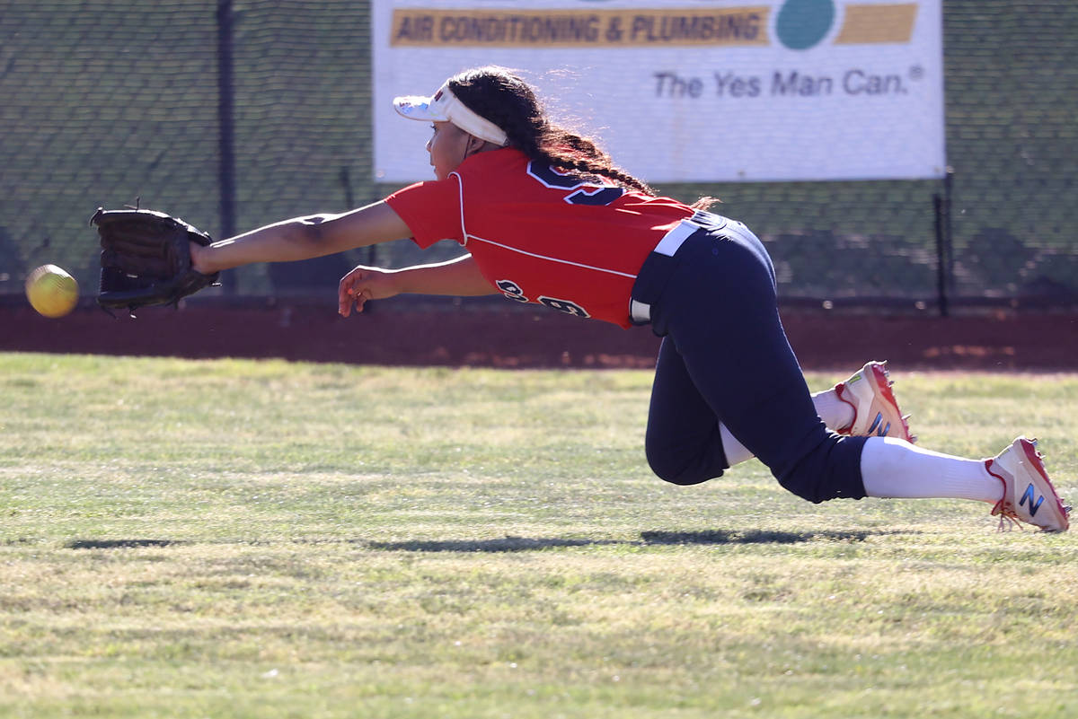 Coronado's Kai Angel (9) misses the ball for a Green Valley hit in the sixth inning of their so ...