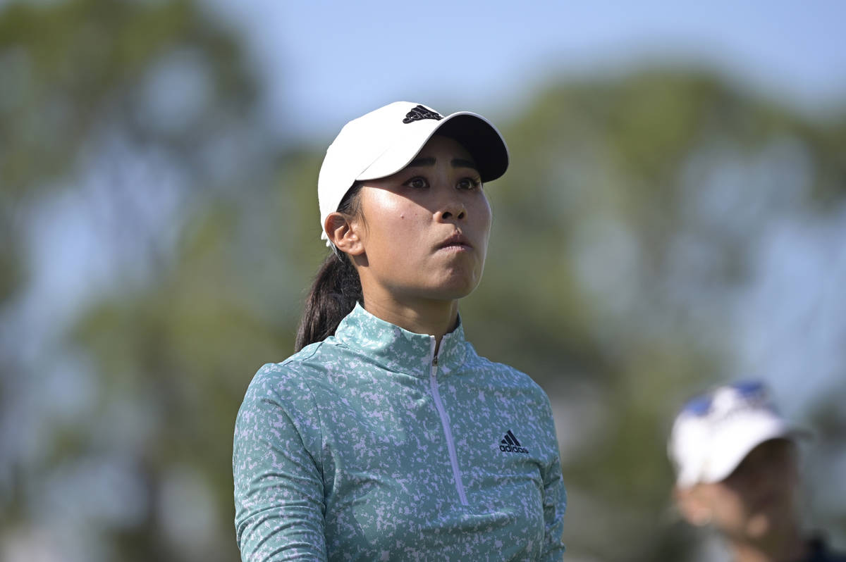 Danielle Kang walks on the fourth fairway during the final round of the Tournament of Champions ...