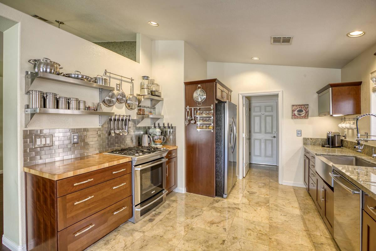 The kitchen of 1764 Saint Thomas Drive, Henderson. (Alan Thibault)