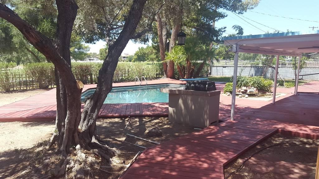 The backyard patio area of 2037 Ottawa Drive. (DeeDee Lopez)