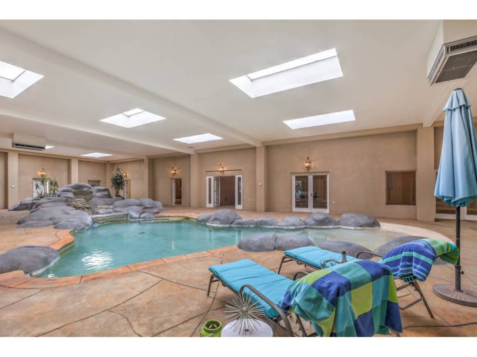 The indoor pool area at 2525 Driftwood Drive. (Brian Mannasmith/Neon Sun Photography)