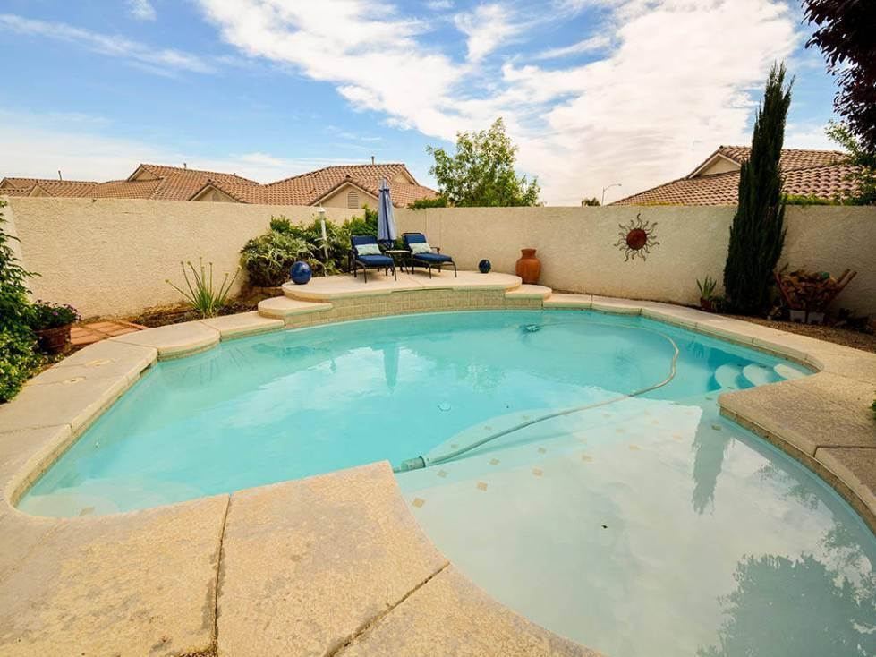 The pool at 913 Drumgooley Court, North Las Vegas. (Lana Bradley)