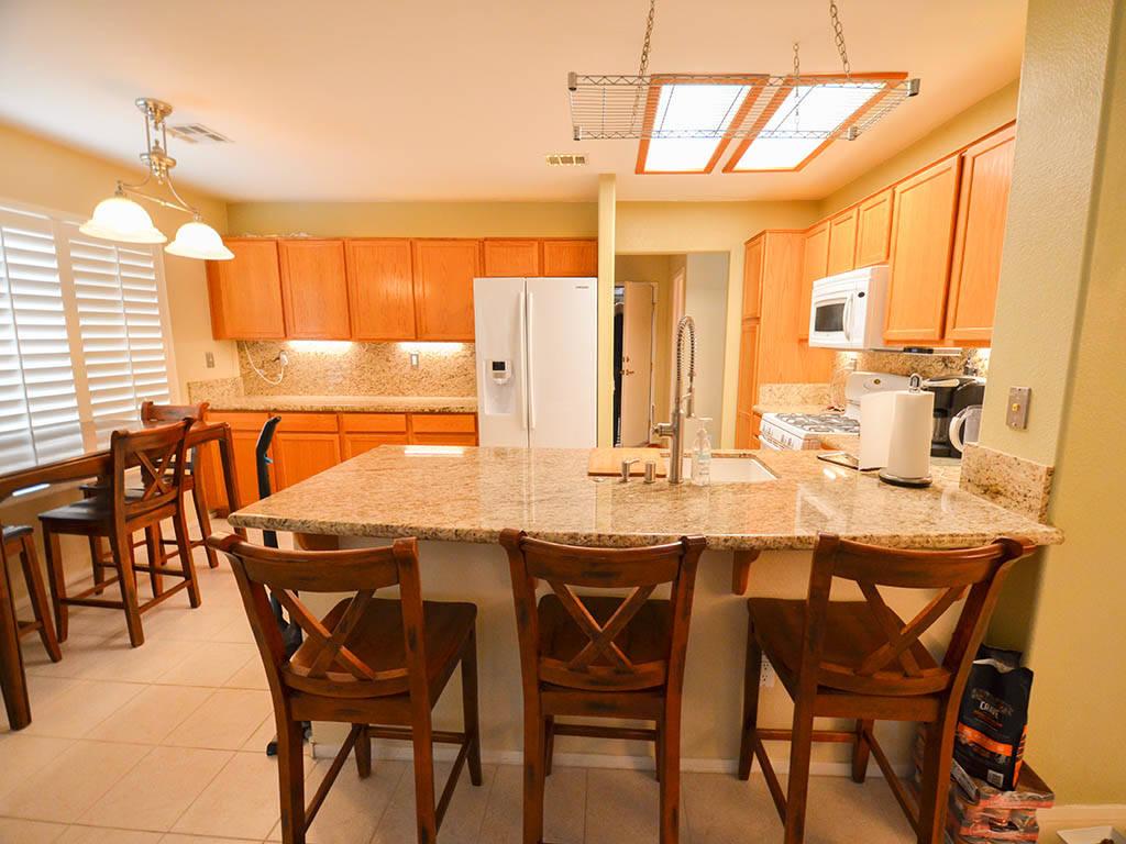 The kitchen of 913 Drumgooley Court, North Las Vegas. (Lana Bradley)