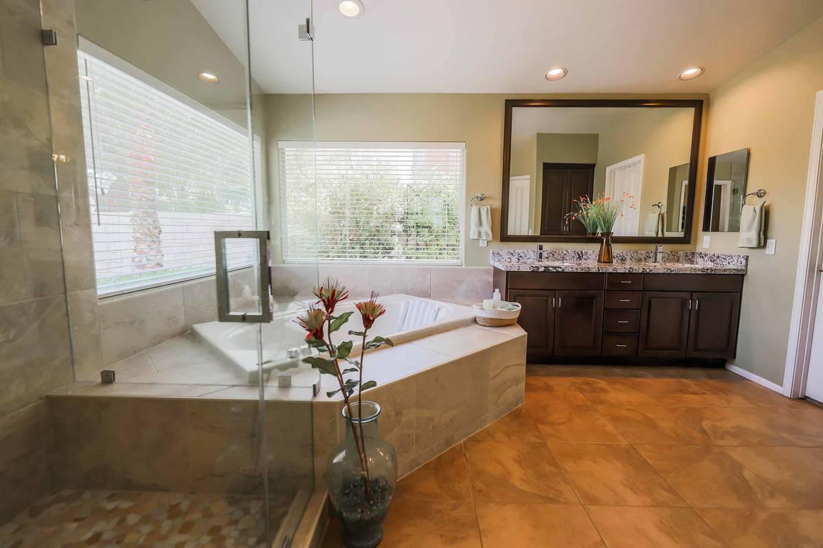 The bathroom of 8812 Saint Pierre Drive. (SugarMill Studios)