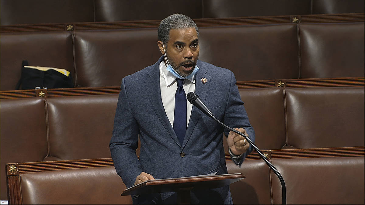 Rep. Steven Horsford, D-Nev., speaks on the floor of the House of Representatives at the U.S. C ...