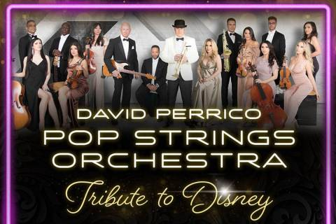 A promotional flyer showing the lineup for Sunday's David Perrico Pop Strings Orchestra show at ...